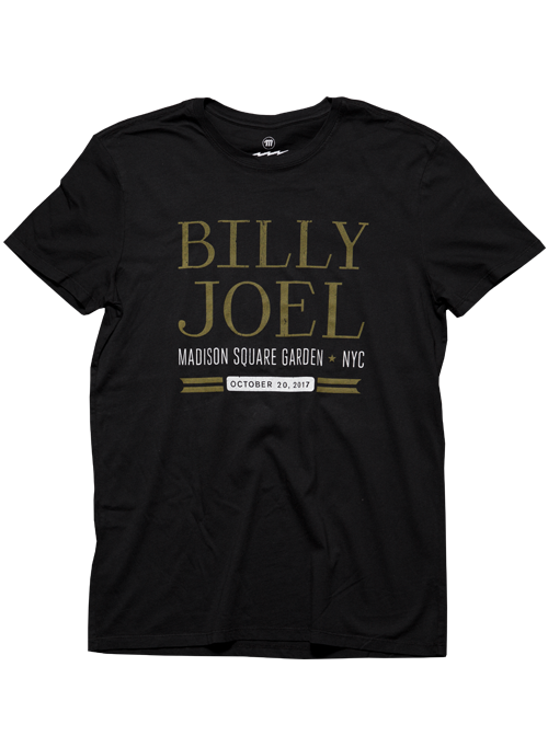 Billy Joel Official Online Store Msg Event 10 20 17 Black Men 39 S Ss Tee