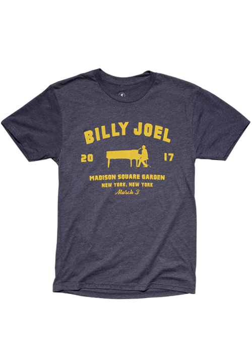 Billy Joel Official Online Store Vintage Navy Madison Square Garden Piano Event Art For 03 03