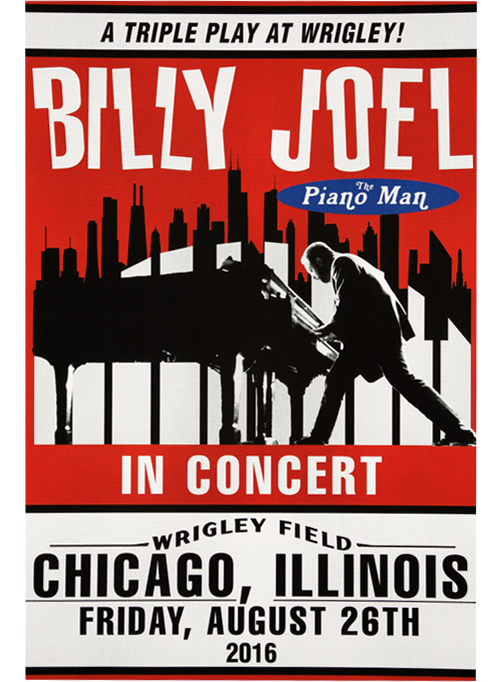 Billy Joel Official Online Store - Poster for Chicago/Wrigley Field ...