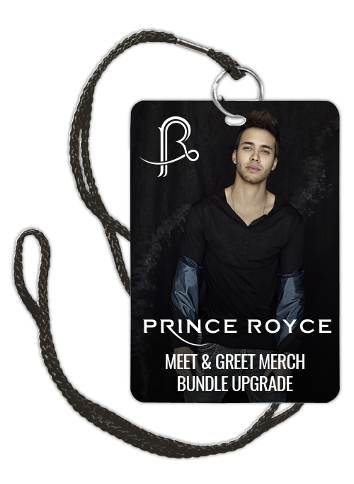 Prince royce official online store meet and greet merch bundle prince royce official online store meet and greet merch bundle upgrade ticket not included m4hsunfo